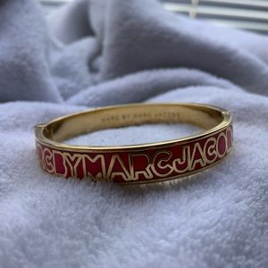 Marc by Marc Jacobs Gold and Pink Bangle